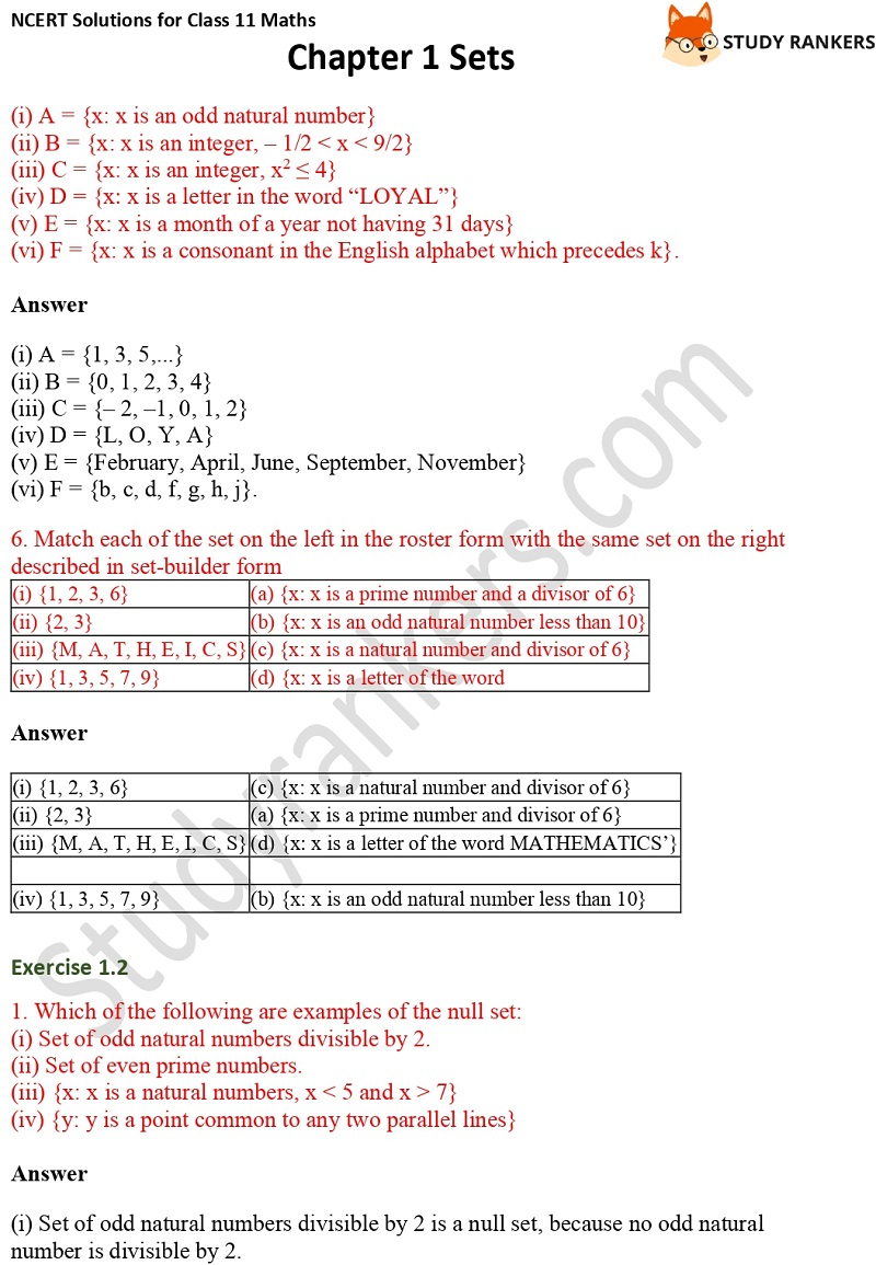 NCERT Solutions for Class 11 Maths Chapter 1 Sets 3