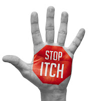 stop itch text on hand