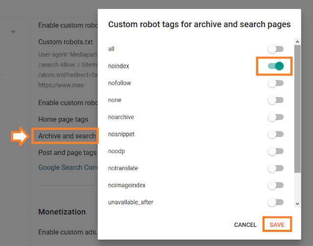 How To Configure/Set The Custom Robots Header Tags On Blogger   Blogger SEO 2