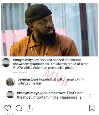 Happiness is Key, Timaya Tutors Fan Who thinks he should Just Get Married .