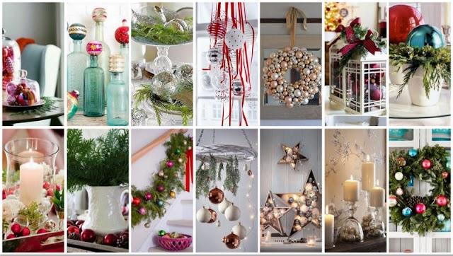 Διακοσμήσεις - Γιορτινές συνθέσεις με Χριστουγεννιάτικες Μπάλες