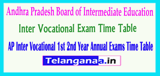 AP Inter Vocational 1st 2nd Year Annual Exams 2018 Time Table