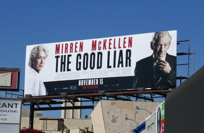 Good Liar film billboard