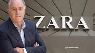 Amâncio Ortega – US$ 72.2 bilhões (Espanha) – Zara