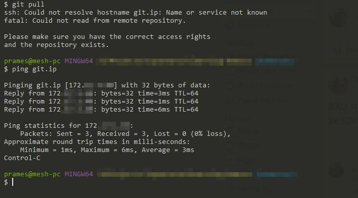 Memperbaiki masalah ssh could not resolve hostname di Git Bash