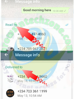WhatsApp message info
