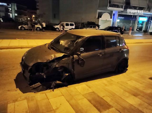 Η τρελή πορεία του αυτοκινήτου που άφησε χωρίς φανάρια το Ναύπλιο