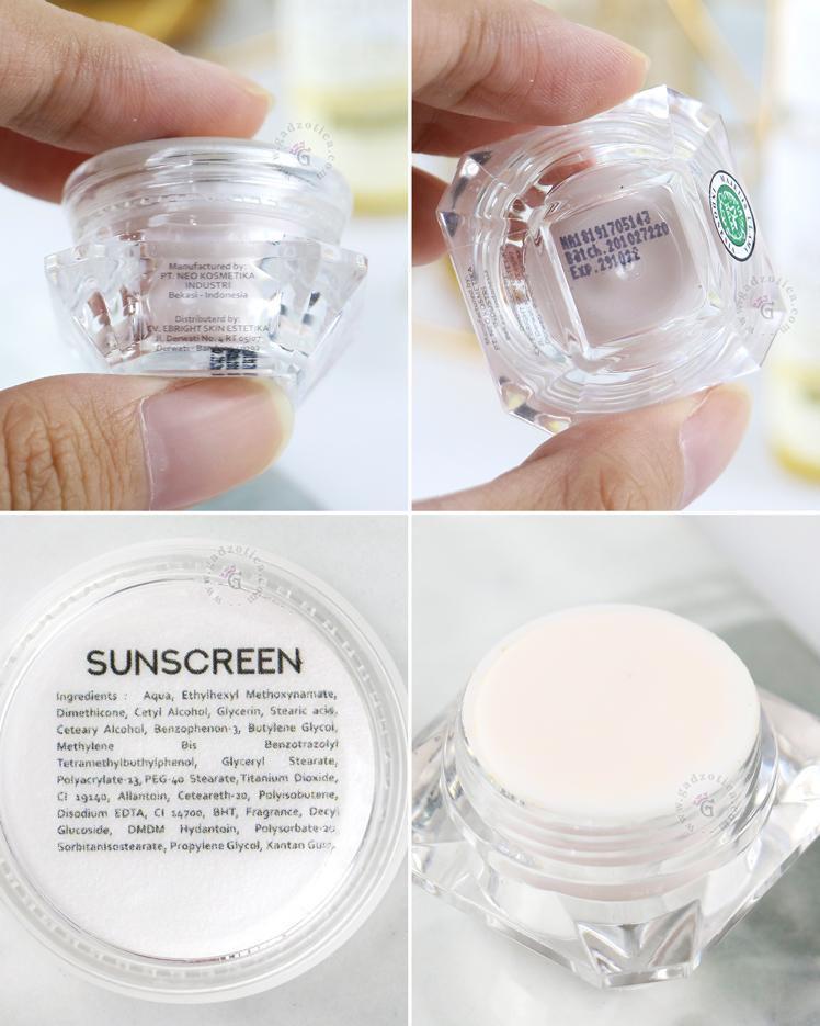 Review eBright Skin Sunscreen Cream