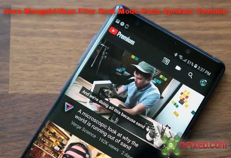 cara ubah mode gelap pada aplikasi youtube