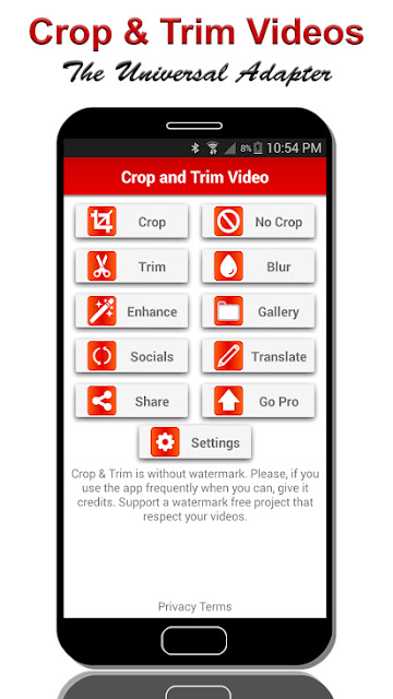 تنزيل تطبيق  Crop & Trim Video  برنامج قص وتغيير حجم فيديو للاندرويد