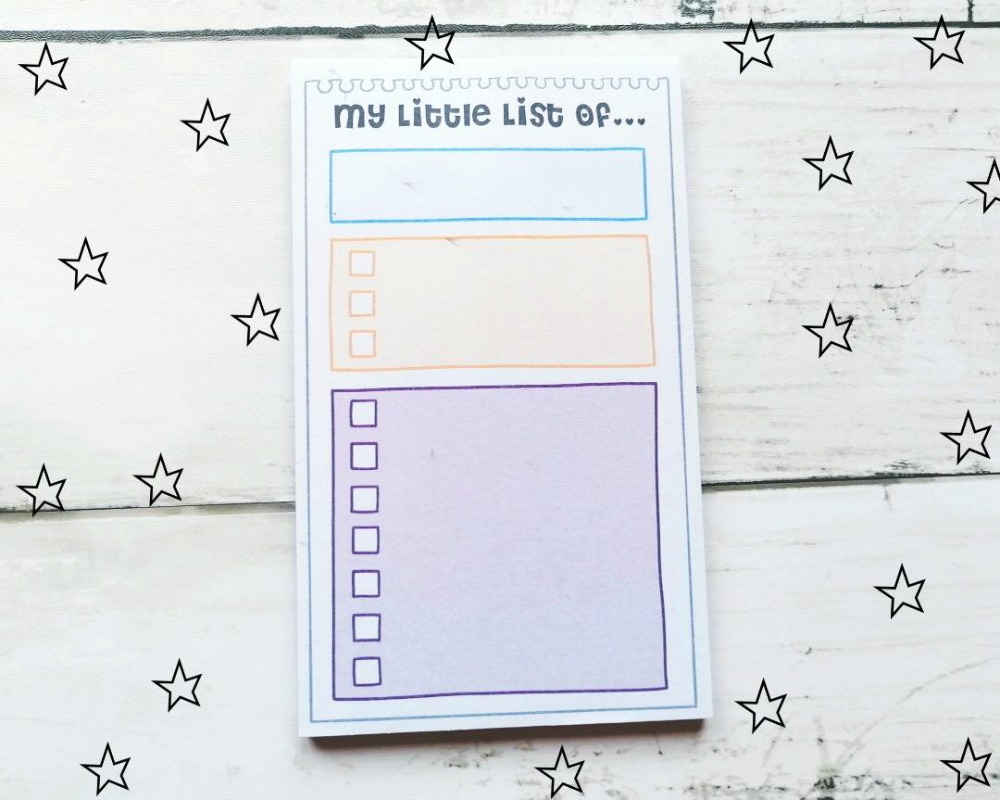 Productivity Pads from Oops A Daisy The Little List
