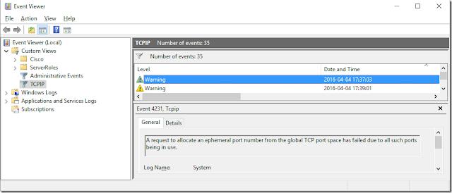 Fix Windows 10 TCP/IP Ports Pool