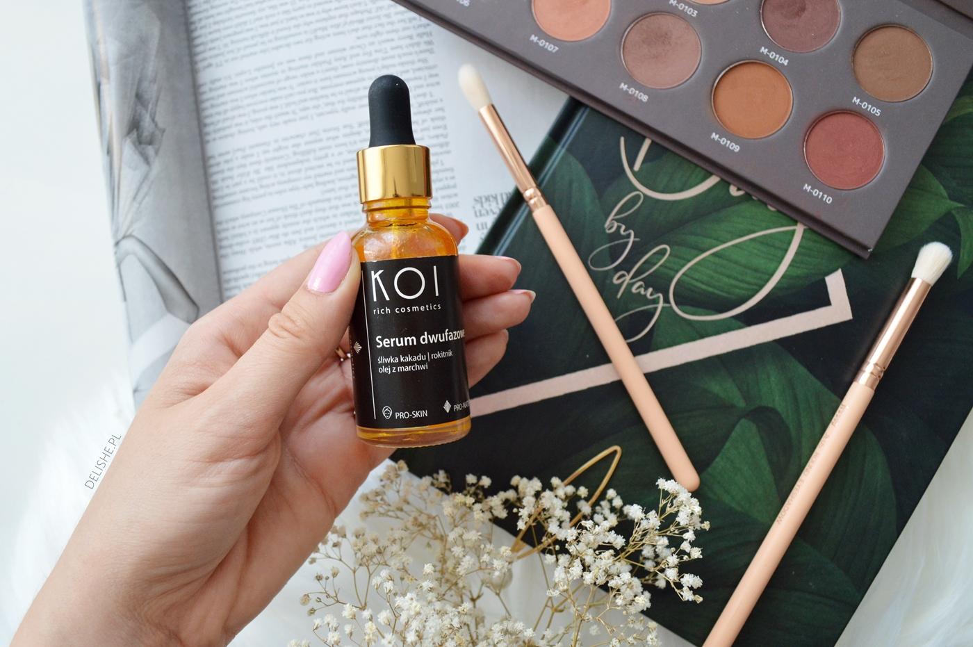 ulubieńcy kosmetyczni serum dwufazowe KOI, paleta affect