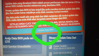 Update data BKN info GTK