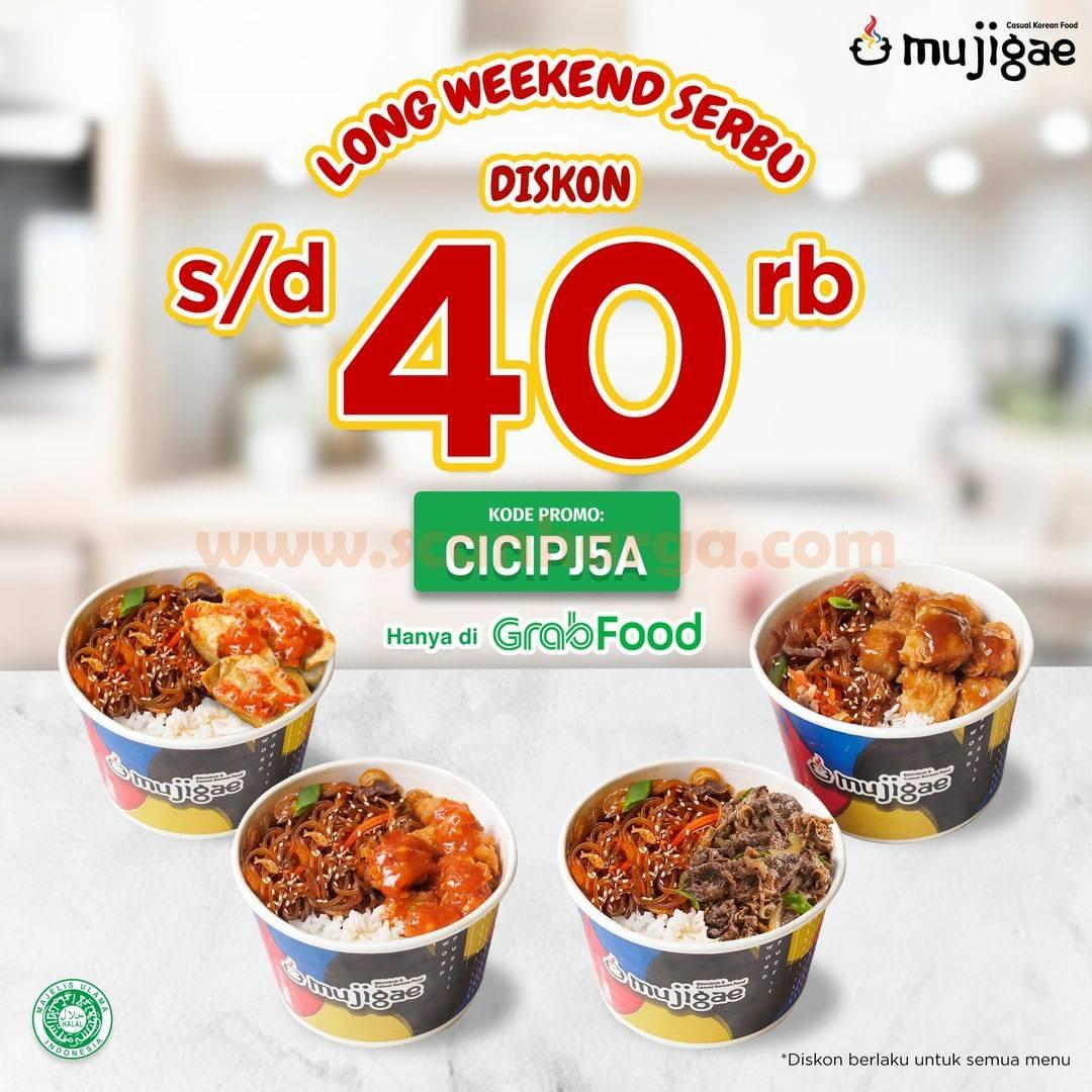 MUJIGAE Promo Long Weekend Serbu GRABFOOD! Diskon Rp 40 Rb