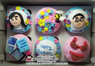 Cupcake Ulang Tahun Fondant 2D