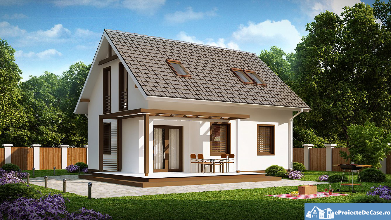 Free home blueprints and floor plans for small houses with for A house design