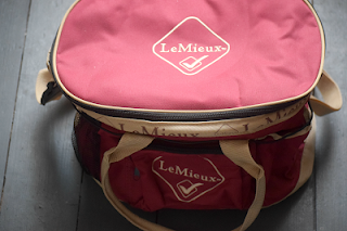 Red Lemieux Grooming Kit Bag