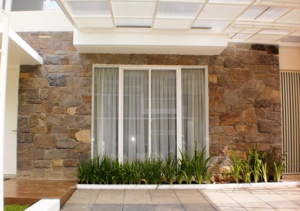 65 Gambar Rumah Minimalis Tampak Depan Batu Alam HD