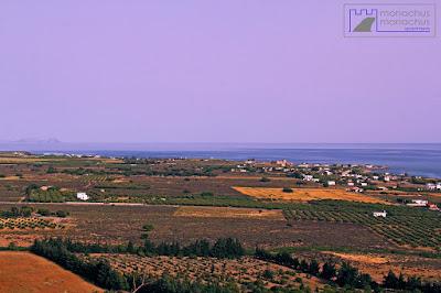 Frangokastello bay, paximadia islets on the left