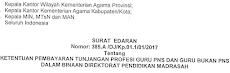 Surat Edaran Ketentuan Pembayaran TPG PNS Dan Guru Bukan PNS Binaan Madrasah