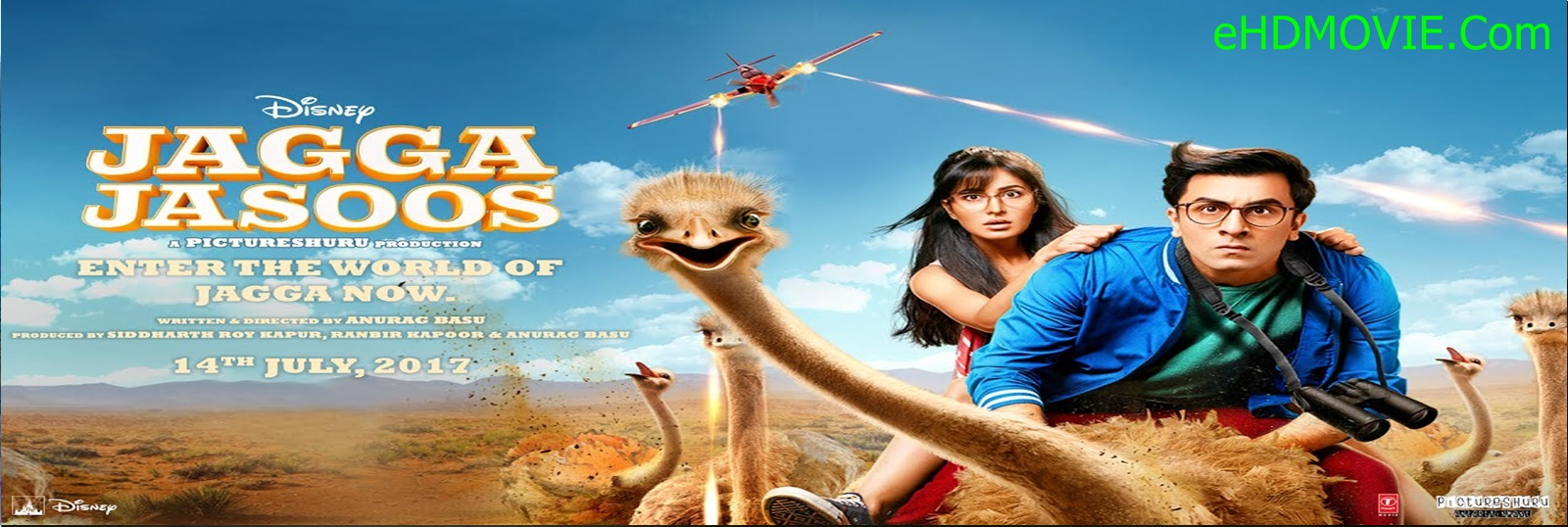 Jagga Jasoos 2017 Full Movie Hindi 720p - 480p ORG BRRip 550MB - 1.2GB ESubs Free Download