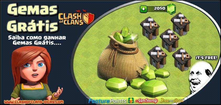 Como conseguir Gemas Grátis em Clash of Clans