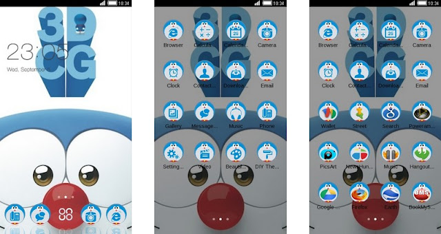 Tema Doraemon Android Terbaru Stand By Me 3DCG