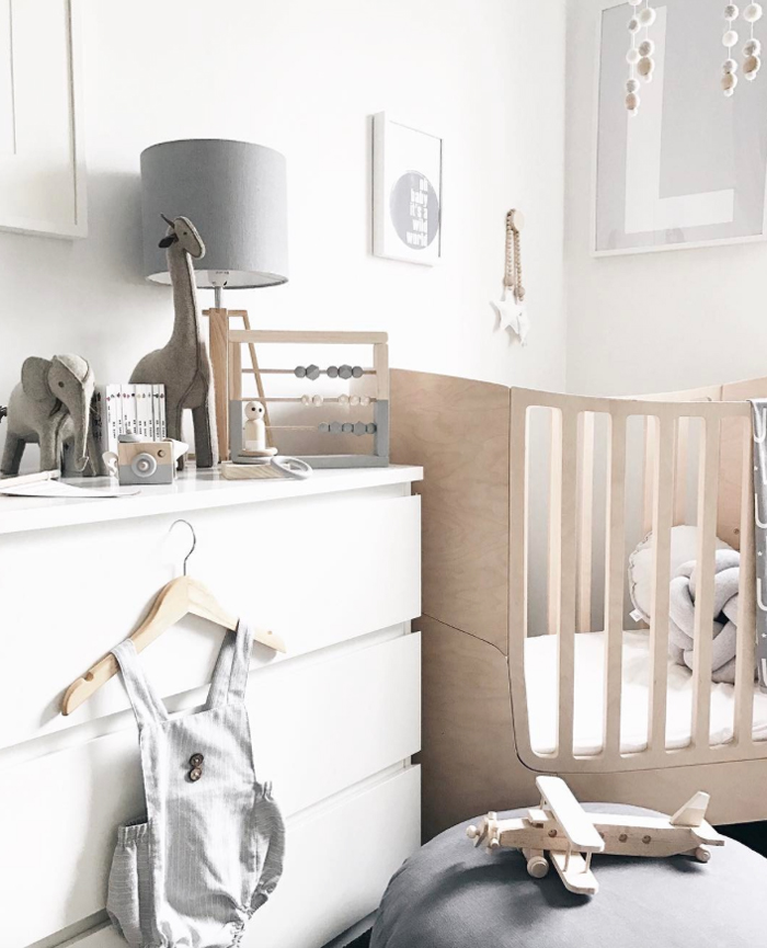 Scandinavian style Nursery  with Leander Bed