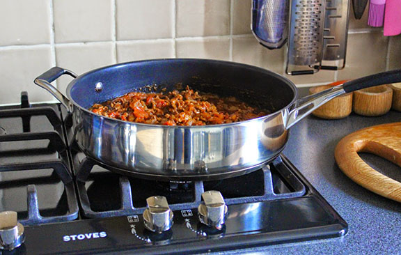 Minced Beef Cooking with Carrots