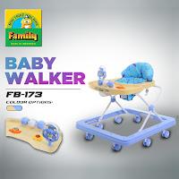 Baby Walker Family FB1738 Musik Pencet Mainan Bola-Bola, Garpu & Kura-Kura Alat Belajar Jalan Bayi