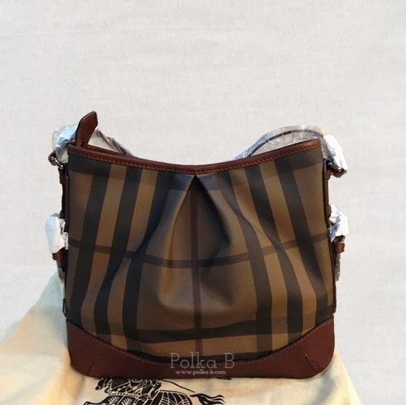 7429722dec36 Burberry Smoked Check Crossbody Bag in Dark Tan
