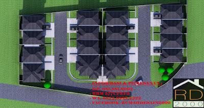 gambar site plan 3D perumahan mewah cluster cibubur exclusive
