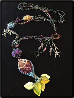 """Fresh Catch of the Day"" beaded necklace by Karen Williams - second face"