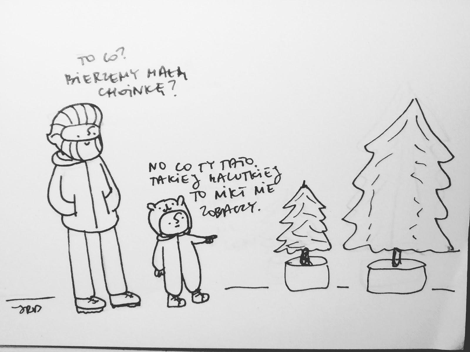 Jeden Rysunek Dziennie Choinka