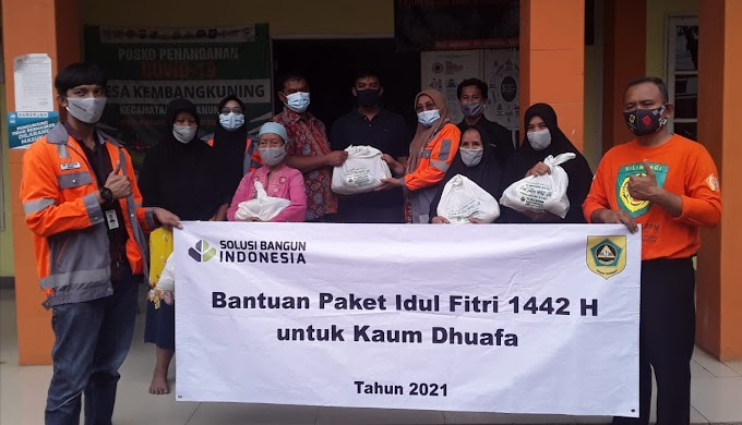 Sambut Idul Fitri 1442 H, Solusi Bangun Indonesia Berikan 2.700 Paket Sembako
