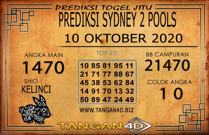 PREDIKSI TOGEL SYDNEY 2 TANGAN4D 10 OKTOBER 2020