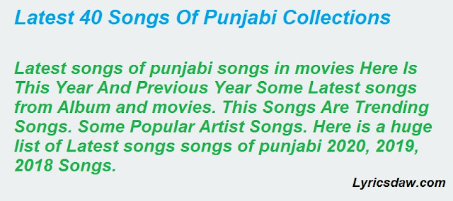 Songs Of Punjabi