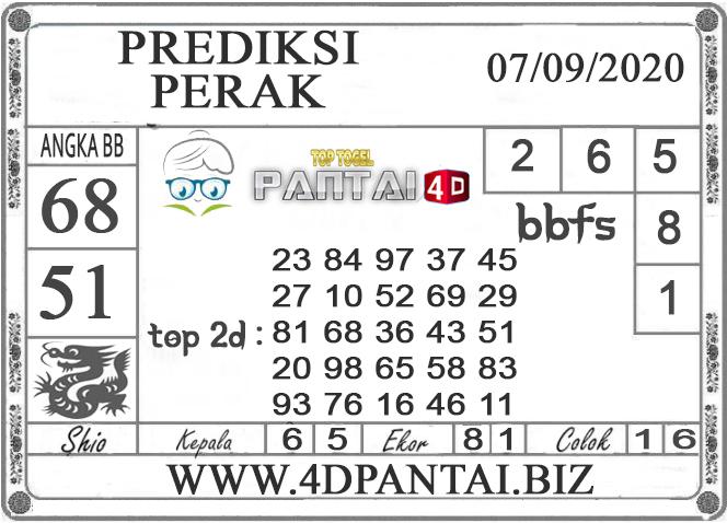 PREDIKSI TOGEL PERAK PANTAI4D 07 SEPTEMBER 2020