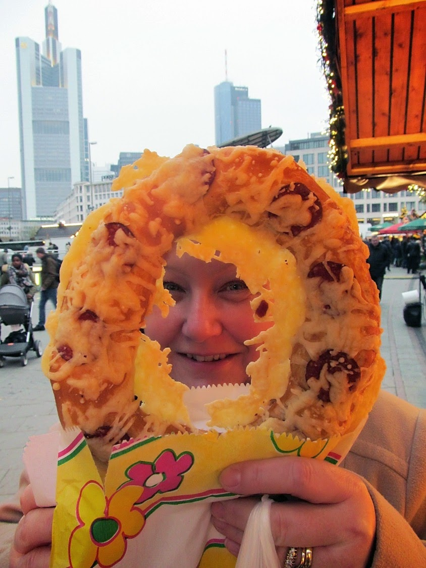cheese salami pretzel