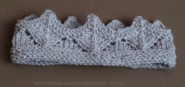 HAND MADE - RUKODELKY  Knitted Crown For Little Girls On Double Pointed  Needles 2bf60cc5c3e
