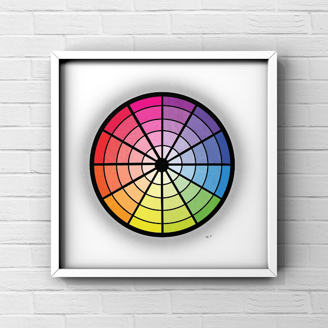 colour wheel art by Mark Taylor