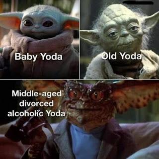 Baby yoda joven vs viejo vs divorciado