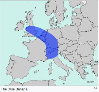 mapa banana azul