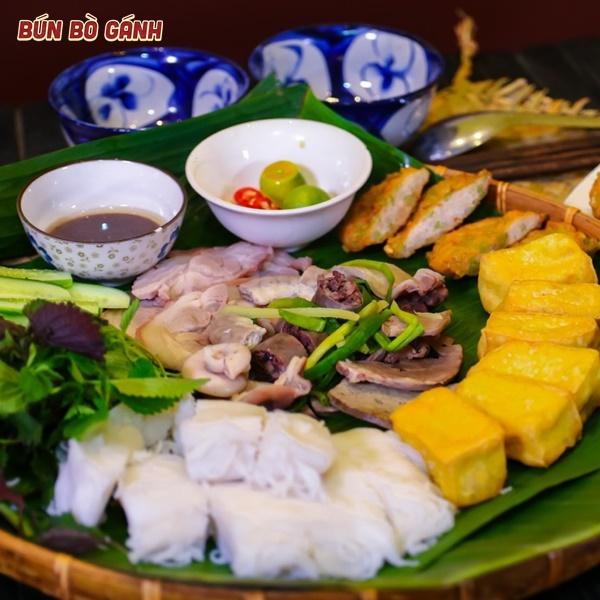 Bún Đậu Tá Lả -Special Rice Noodles(Tofu,Viscera,Spring Rolls,Pig Trotter Meat)