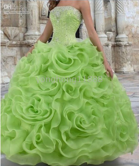Beautiful Green Wedding Dress Design