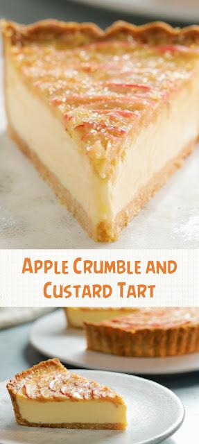 Apple Crumble and Custard Tart