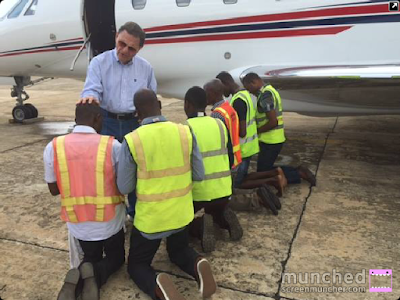 Image result for Kenneth Copeland prays for Airport personel in Lagos, May 2015