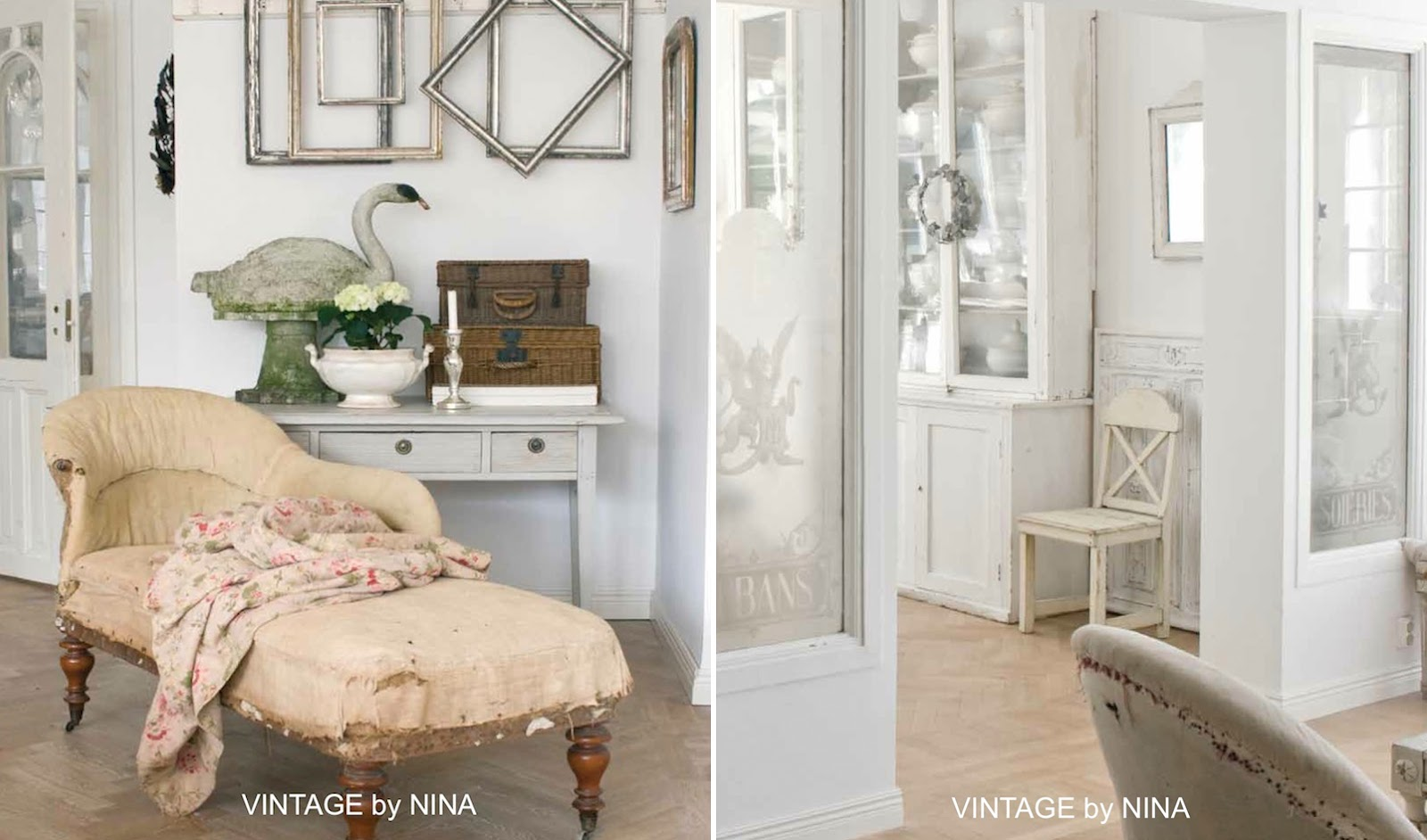 ispirazione vintage shabby chic interiors. Black Bedroom Furniture Sets. Home Design Ideas