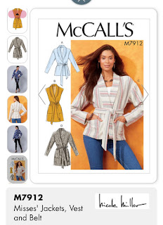 McCall's 7912 pattern envelope with wrap jacket views